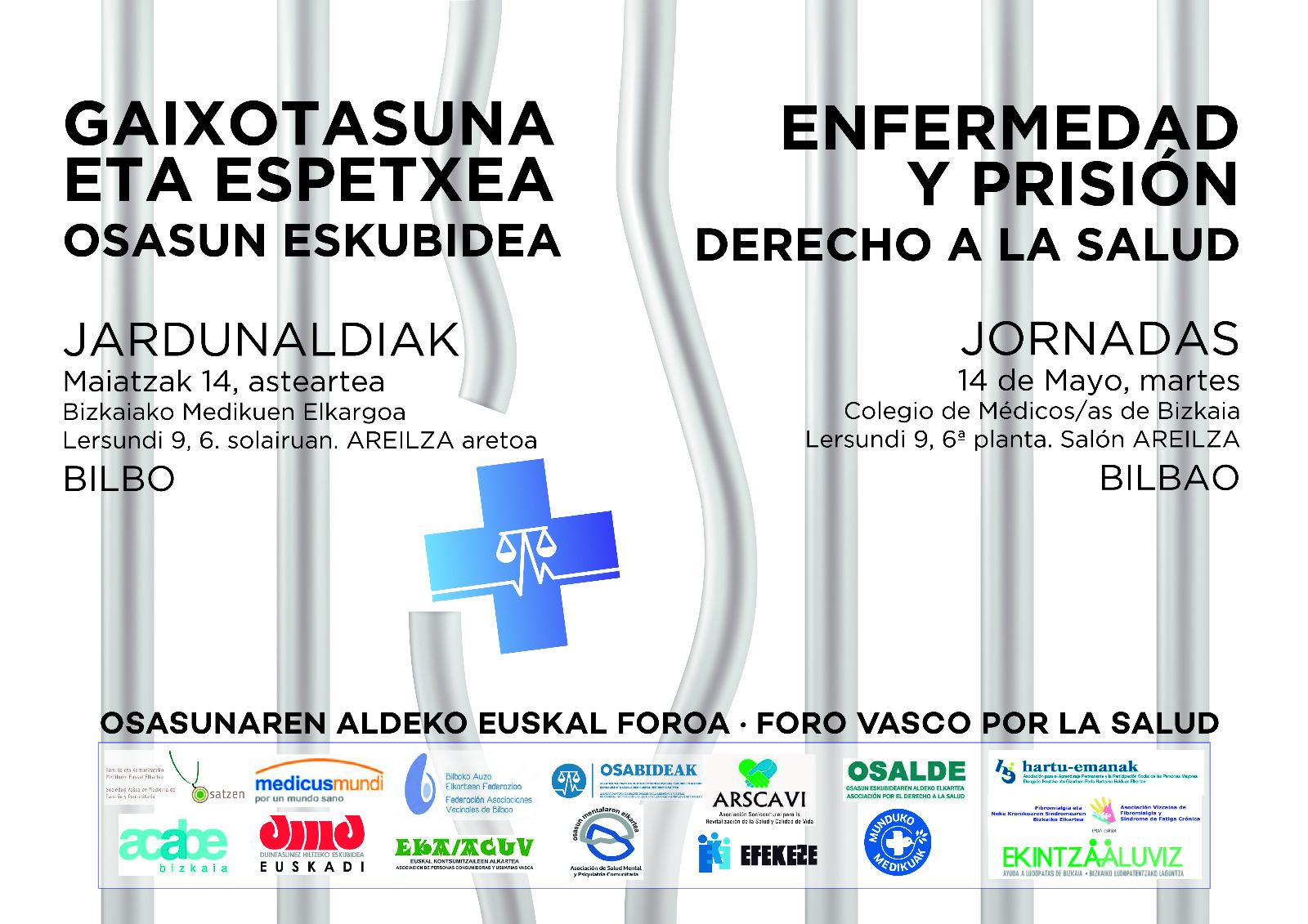 Osabideak participa en la Jornada «Enfermedad y prisión. Derecho a la Salud» organizada por el Foro Vasco por la Salud